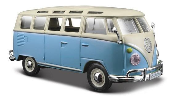 Auto A Escala Volkswagen Van Samba 1/25 Abre Puertas Romemut