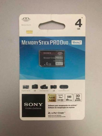 Cartão De Memória Sony Pro Duo Mark2 4 Gb