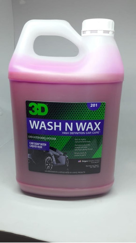 3d Wash N Wax - Shampoo Con Cera 1g Highgloss