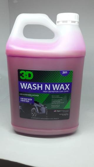 3d Wash N Wax - Shampoo Con Cera 1g Highgloss