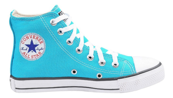 Tênis Converse All Star Ct Cano Alto Azul Turquesa