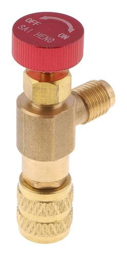 Imagen 1 de 7 de Válvula De Llenado De Líquido De Aire Acondicionado Color