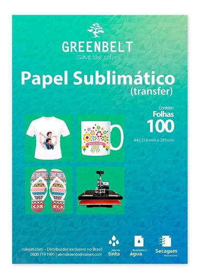 Papel Para Sublimação R90 A4 - Pacote Com 100 Folhas