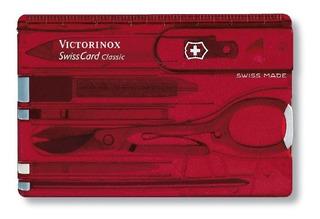 Swisscard Victorinox Classic Cartão Vermelho - Original
