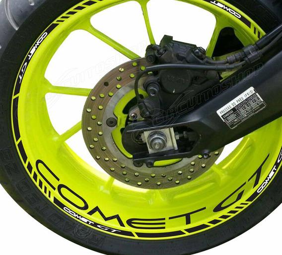 Friso + Adesivo Refletivo Roda P1 Moto Comet Gt 250 Gt250