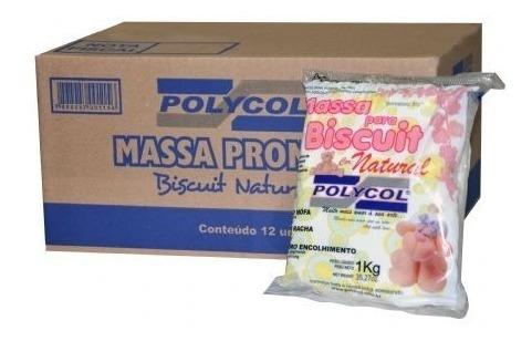 Massa De Biscuit Natural Polycol 1 Kg - Cx 12kg