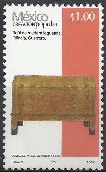 2006 Creación Popular Baúl De Madera 1p Sc. 2489 Mnh