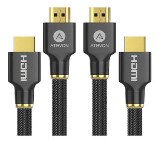 Cable Hdmi 2.0 Atevon 4k 1.8mt Hdcp 2.2 2160p Hdr 3d H Speed