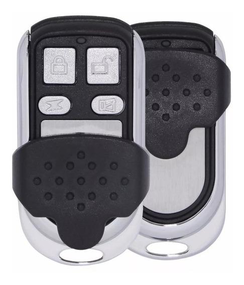1 Controle Aço Escovado Portão Eletrônico 4 Canais Copiador