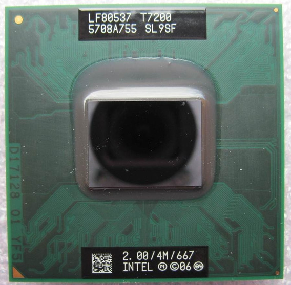 Processador Intel Core 2 Duo T7200 2.0ghz/4mb/ Socket M 478