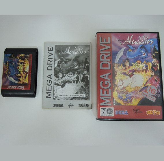 Aladdin Original Completo Mega Drive Tectoy