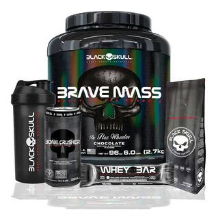Brave Mass Hipercalorico - 2700g - Black Skull