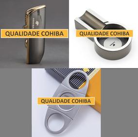 Kit Isqueiro + Cinzeiro + Cortador Para Charutos Cohiba