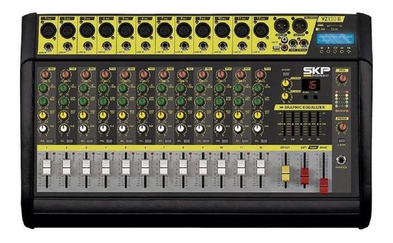 Mixer Mesa Som Amplificada 12 Canais Skp Vz120 Ii Usb Bivolt