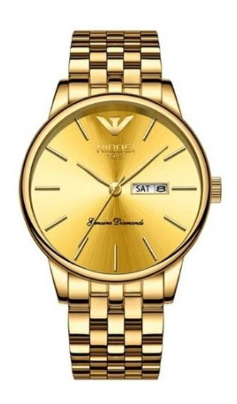 Relógio Nibosi Ni-2332, Dourado, Masculino, Quartz Original