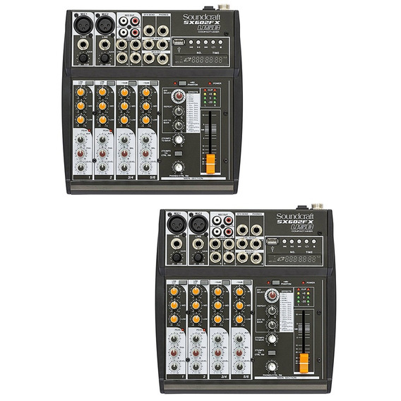 Kit C/ 2 Mesas Soundcraft Sx602fx Analógicas Usb 6 Canais
