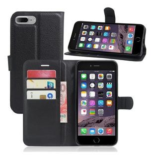 Capa Case Carteira Flip iPhone 8 Plus Tela 5,5 Preto