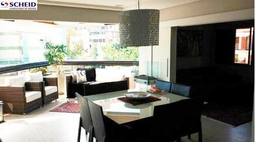 Imagem 1 de 15 de Apartamento Com 180 M², Com 4 Dormitórios Sendo 2 Suítes, 4 Vagas, Depósito. - Mc2788