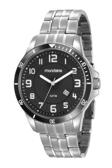 Relógio Mondaine Masculino Analógico Prata Original Garantia