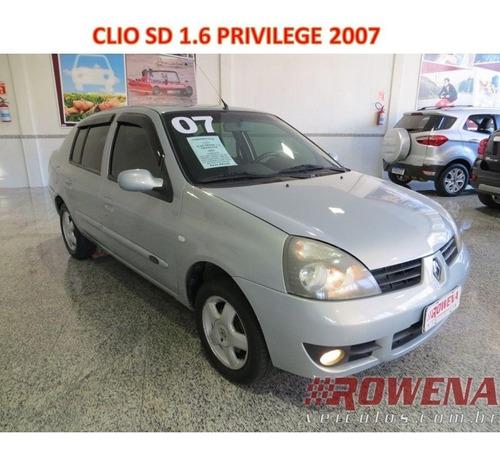 Imagem 1 de 14 de Clio Sedan 1.6 Privilege 2007 Completo Super Novo