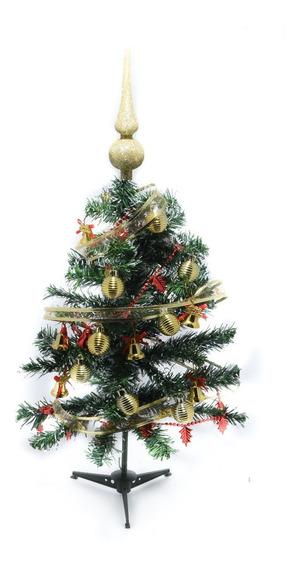 Arbol Navidadeño 60 Cm Completo Con Luces Decoracion