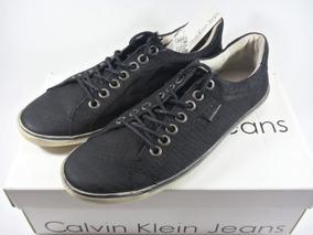 Tênis Couro Calvin Klein Sunset N Y C Couro Legítimo - Preto
