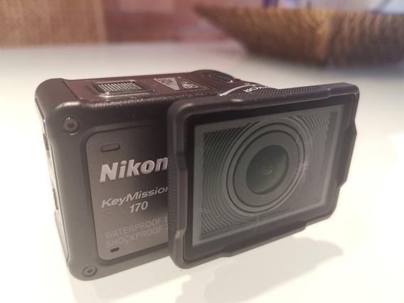 Nikon Keymission 170 Nova - Com 3 Baterias E Adaptador Gopro