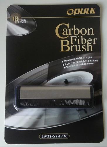 Imagem 1 de 7 de Escova Anti Estática De Fibra Carbono Opula Limpeza Lp Vinil