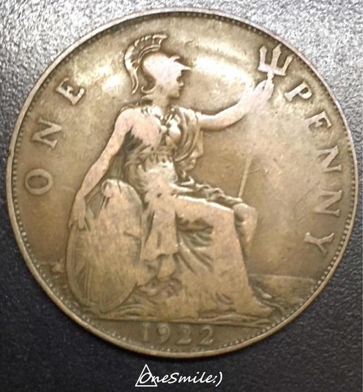 Onesmile:) Moneda De Gran Bretaña One Penny 1922