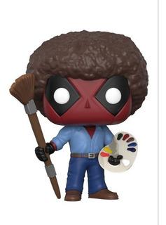 Funko Pop Marvel #319 Deadpool As Bob Ross Original Loose