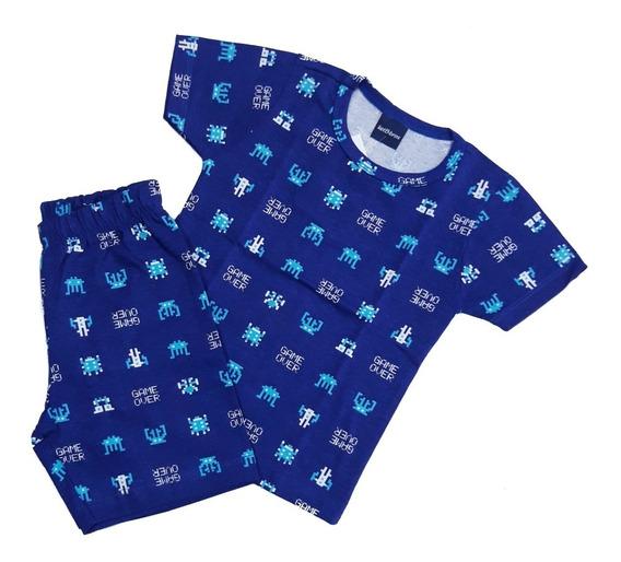 Pijama 100% Algodão Estampa Video Game Nº 1 Ao 3