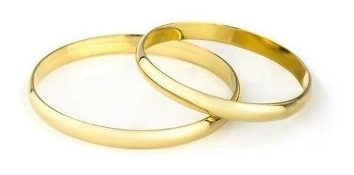 Alianzas Oro 18k 2 Grs El Par Anillo Casamiento Compromiso