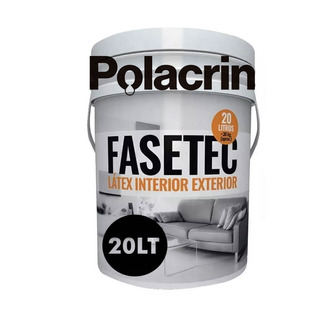 Pintura Polacrin 20lts Lavable Interior Exterior Pared Cubritivo Latex Color Blanco Fasetec Antihongos Acrilico Mate