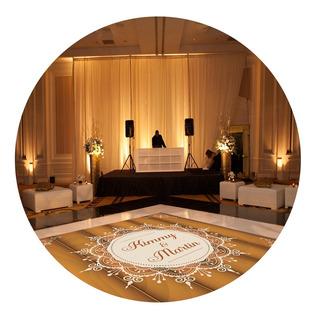 Pista De Dança Para Casamento Rústico Madeira Ps32 - 3x3m