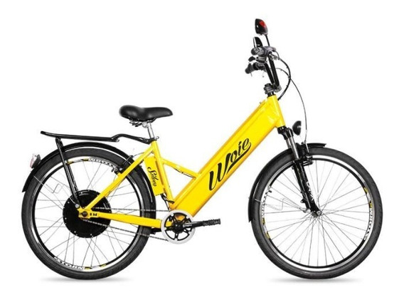 Bicicleta Elétrica Woie Silver Fabricada No Brasil - Amarelo