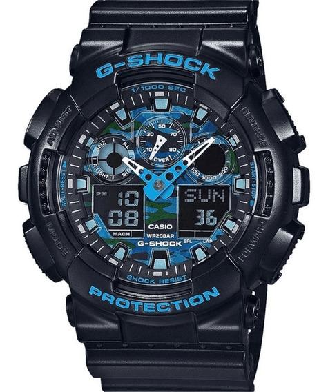 Relógio Casio Digital Masculino G-shock Ga-100cb1adr+brinde
