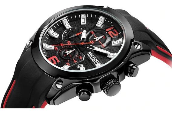 Relógio Megir 2063 Original Esportivo Cronógrafo Calendário