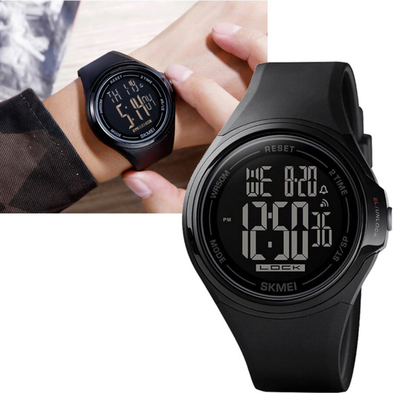 Relógio Masculino Skmei Digital 1602 Preto