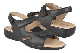 Sandalias Casuales Para Dama Flexi 34902 Piel Negro