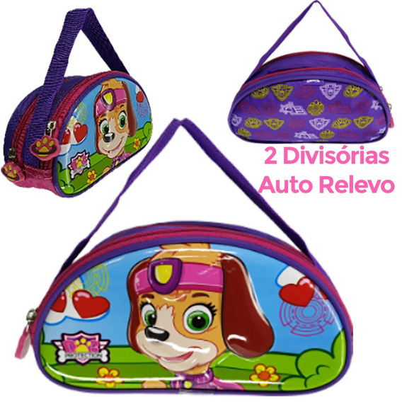 Estojo Escolar Infantil Dog Protection Auto Relevo E Eva