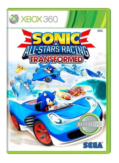 Sonic E Allstars Racing Transformed Xbox 360 Mídia Física