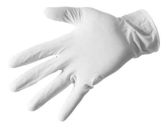 Guante Latex Blanco Doctor Enfermera Caja 100 Pcs Chi M Gra