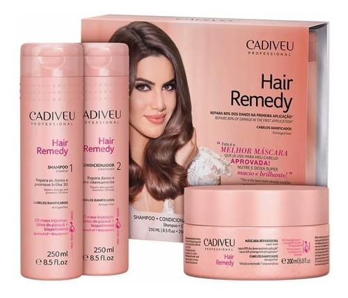 Cadiveu Hair Remedy Kit Shampoo + Condicionador + Mascara