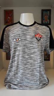 Camisa Futebol Vitoria Treino Cinza Claro