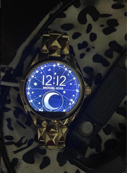 Relógio Michael Kors Digital Acess Com 2 Pulseiras Orginjas