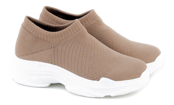Zapatilla Mujer Xl Extra Large Rene Beige