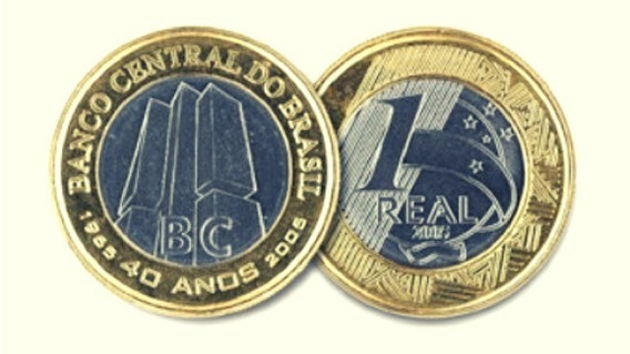 Moeda,1 Real,40 Anos Banco Central,comemorativa,tenho Outras