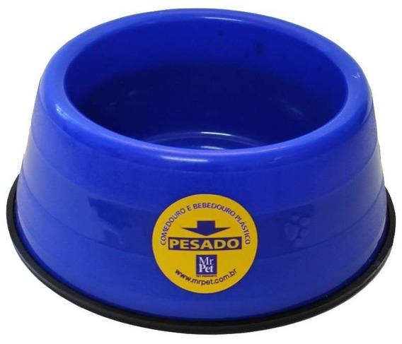 Comedouro Bebedouro Caes Pesado 1100ml Mr Pet Azul 2 Un