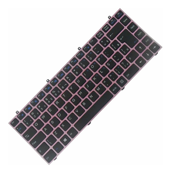 Teclado Original Notebook Itautec W7530 Mp-12r78pa-430 Rosa