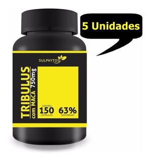 Tribulus + Maca 63% Saponinas 120caps 750mg X 5 Unidades